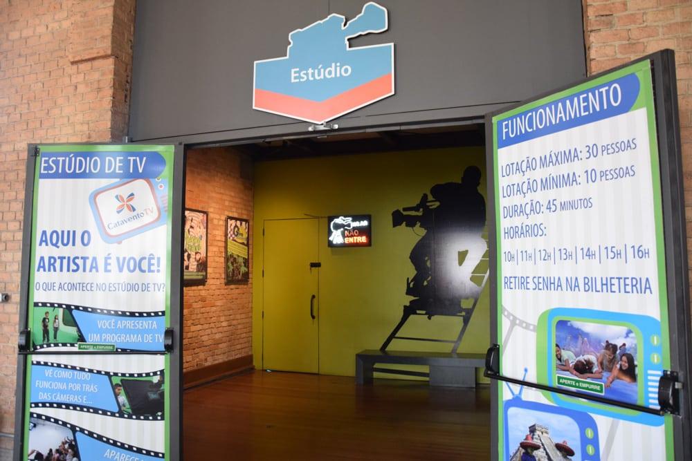 O estúdio de TV é uma atração divertida do Museu Catavento!