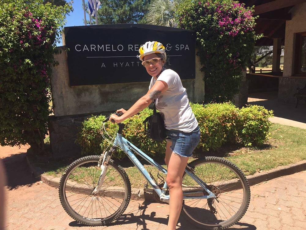 passeio de bike em Carmelo