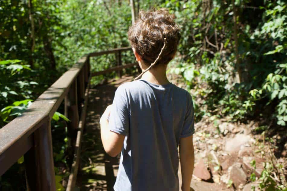 Brotas com crianças, trilha cachoeira