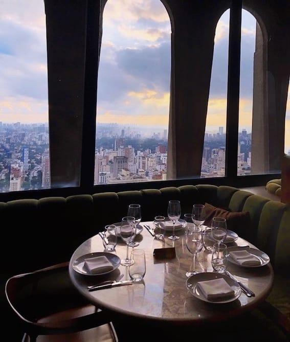 Restaurante com vista sp