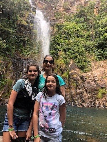 Cachoeira Serra Azul Nobres MT família