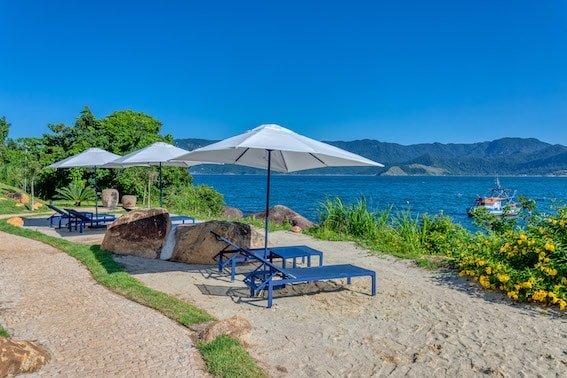 Área comum resort em Ilhabela