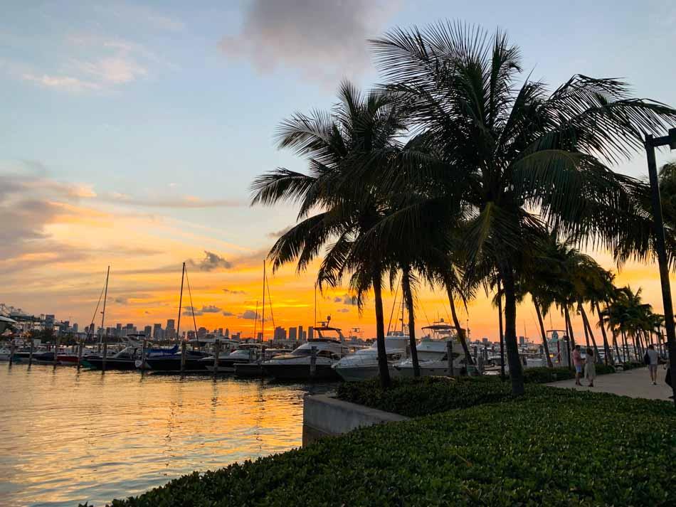 Por do Sol em Miami